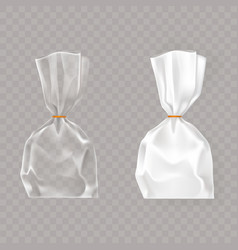 set of realistic of plastic vector image