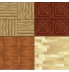 Set of seamless wooden backgrounds vector