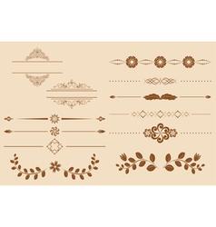 set of vintage delimiters vector image