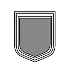 shield icon silhouette in gray color silhouette vector image