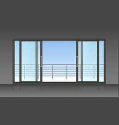 Slidind exterior door and terrace background vector