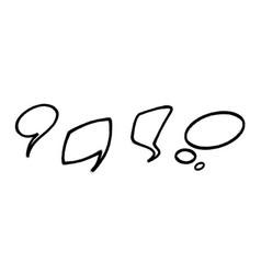 speech bubble in graffiti doodle style vector image
