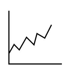 Stats line black icon vector
