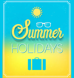 summer holidays typographic design vector image
