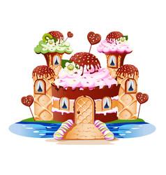 Sweet castle vector