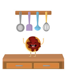 sweet cookie cartoon vector image