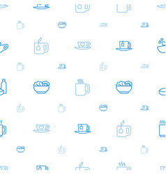 Tea icons pattern seamless white background vector