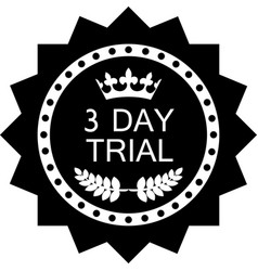 Three day trial icon vector