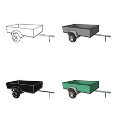 Trailer with sides for the carcar single icon in vector
