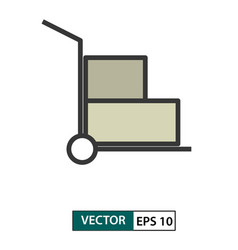 trolley icon colour style eps 10 vector image