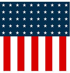 Usa flag american flag background white stars on vector