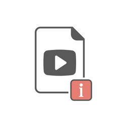 video icon with information sign vector image