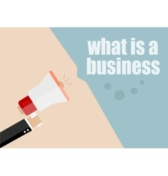 What is a business flat design business vector