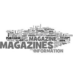 Why do we read magazines text word cloud concept vector