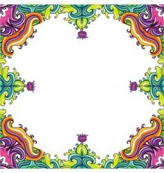 floral frame floral vector image vector image