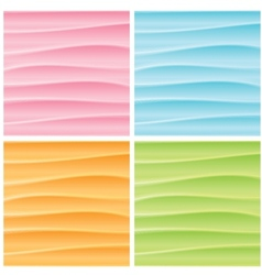 Set of Abstract Wavy Backgrounds Graphics vector image vector image