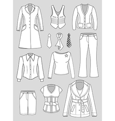 Top manager woman clothes vector image
