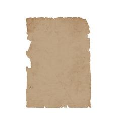 Torn sheet old paper vector image