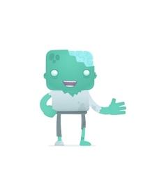 funny cartoon zombie vector image vector image