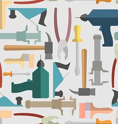 Hand tools seamless Pattern background vector image vector image