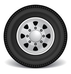heavy duty truck rim vector image vector image