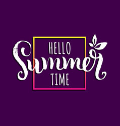 hello summer time background vector image
