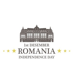 Independence day romania vector