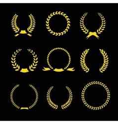 Laurel Wreaths Collection vector image