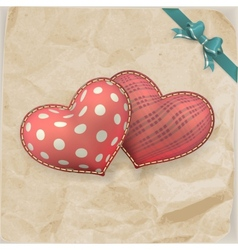 Vintage handmaded valentines day toy EPS 10 vector image