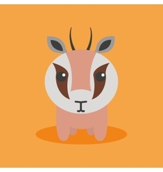 Cute Cartoon gazelle vector image
