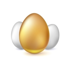Golden and white Easter eggs vector image vector image