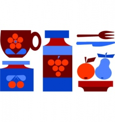 picnic set vector image vector image