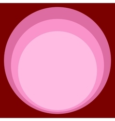 Red pink circle retro background art Nouveau vector image vector image