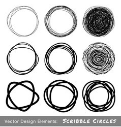 scribble rounds set9 vector image vector image