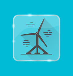 water turbine silhouette icon in flat style on vector image