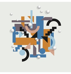 Background in cubism style vector image