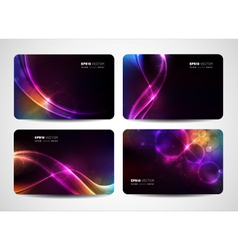 Magical light business cards vector image vector image