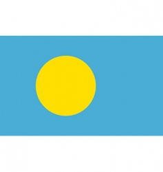 Palau flag vector image vector image