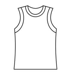 Singlet icon outline style vector image
