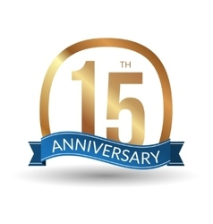 15 years anniversary experience gold label vector