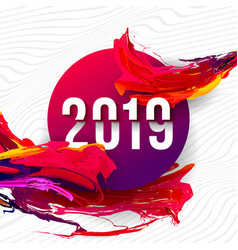 2019 glitched background design template for vector