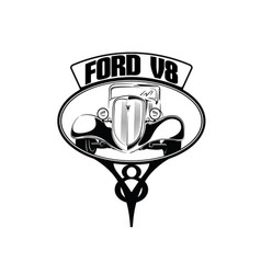 34 ford ornament vector