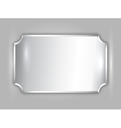 Abstract precious metal silver award plate vector