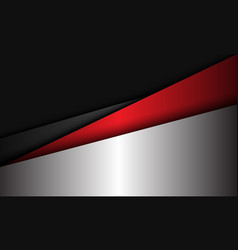 Abstract silver red grey metallic geometric vector