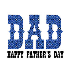 blue bandana dad fathers day vector image
