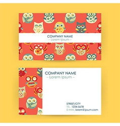 Business Card with Owls vector image