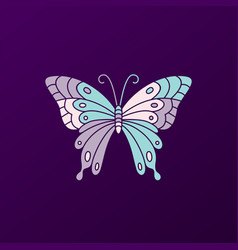 butterfly colorful logo icon vector image