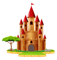 castle towers with tree vector image