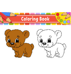 Coloring book for kids cheerful character color vector