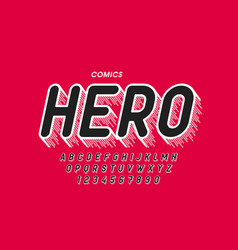 comics style font vector image